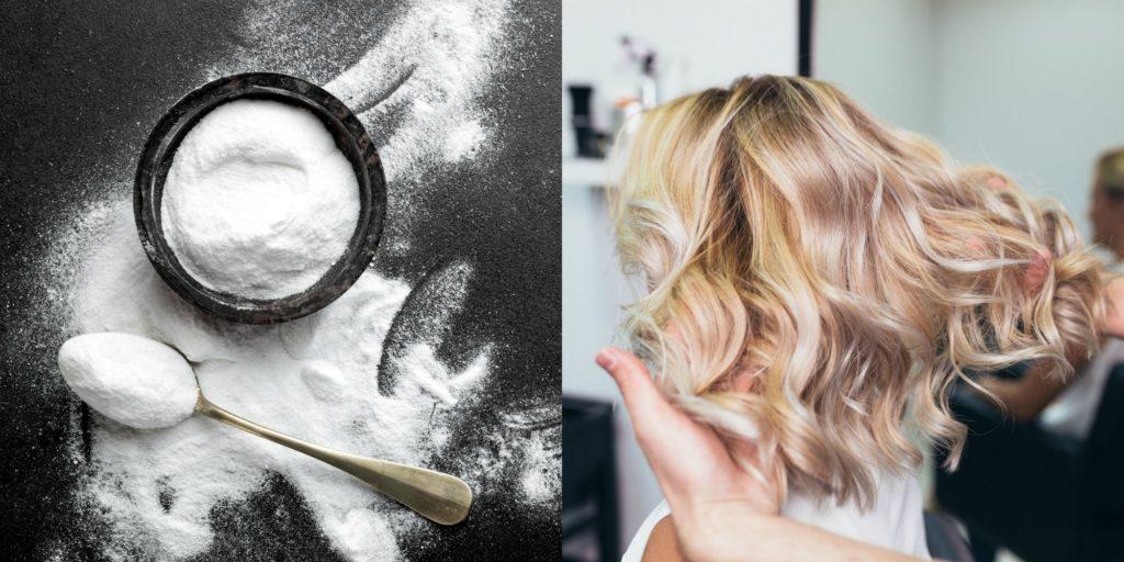 bicarbonate de soude sur les cheveux